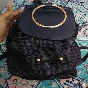 Lauren Conrad Navy Drawstring Backpack
